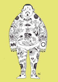 Entry for Mike Watt's Tattoo Flash Book, published in Australia