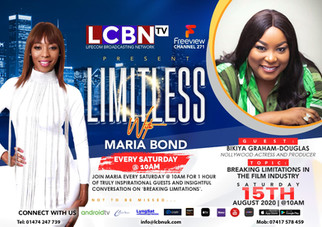 DO WATCH LIMITLESS WITH MARIA BOND ON THE 15/08/2020 INTERVIEWING BIKIYA GRAHAM-DOUGLAS