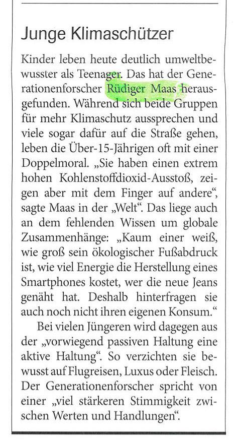 """Generationenforscher Rüdiger Maas über die junge Generation in """"Christ in der Gegenwart"""" 23.02.2020"""