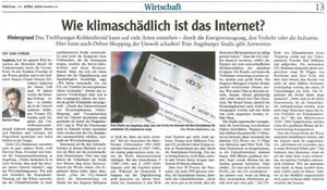 Wie klimaschädlich ist das Internet Hartwin Maas in Augsburger Allgemeine