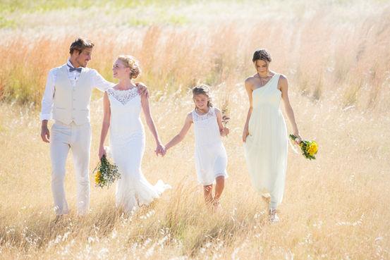 Family In White