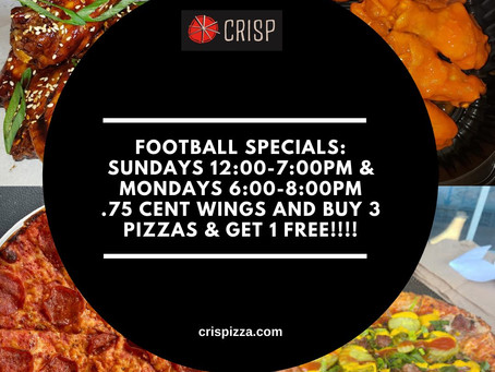 Football season specials! 🏈🏈🏈🏈#CRISPwalpole