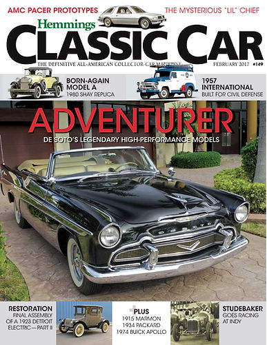 Front Cover, Hemmings Classic Car Magazine, February 2017