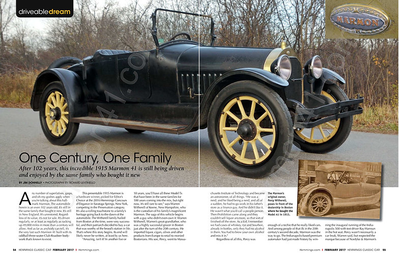 Marmon Model 41 Club Roadster, One Century, One Family