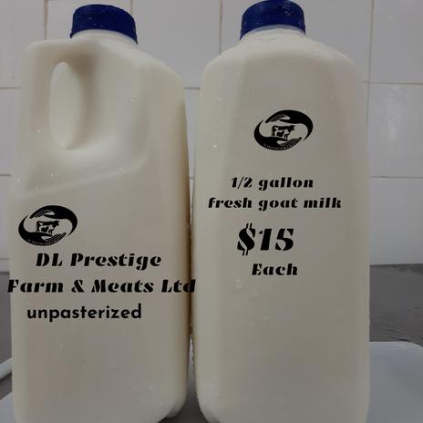 fresh goat milk