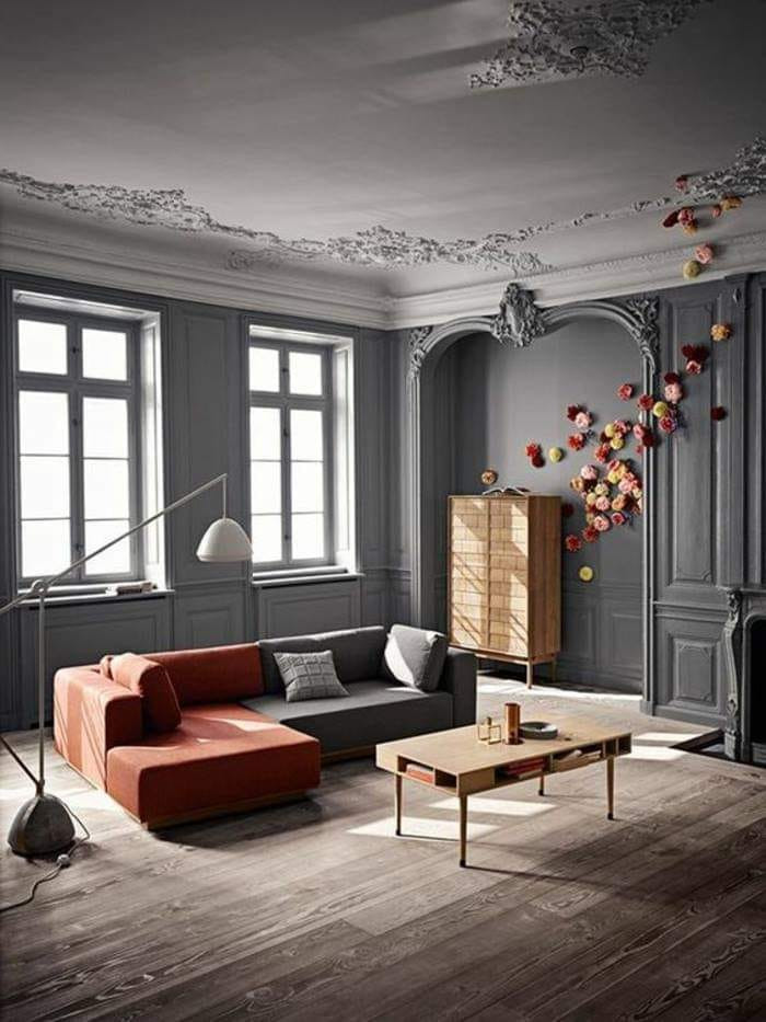 A spectacular salon with extra eccentric plus luxurious style full in details. Flowers cement wood and fantasy made a room lovely stunning in its style.
