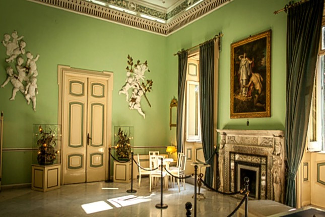 The Achilleion Palace in Corfu island in Greece. Amazing decoration - lovely luxurious furniture, great materials and style. Real princess lived in here at past times.