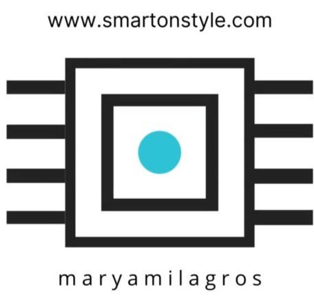 My logo. Marya Milagros for www.smartonstyle.com