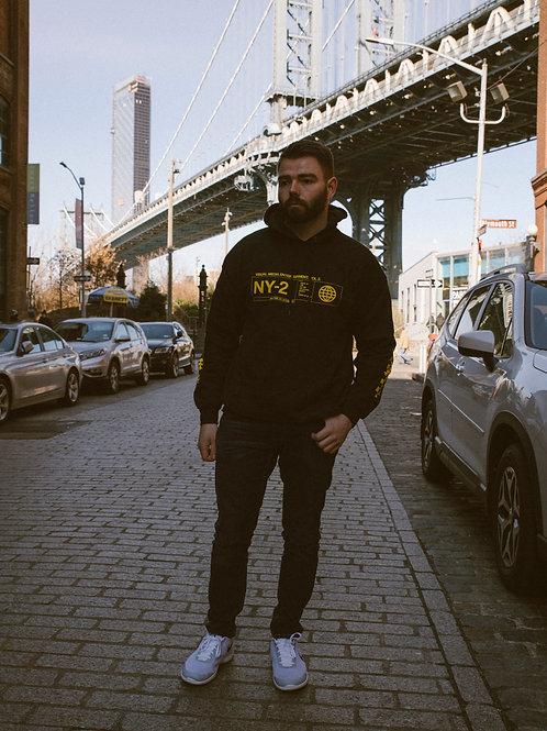 Collection II: Black and Yellow Hooded Sweatshirt