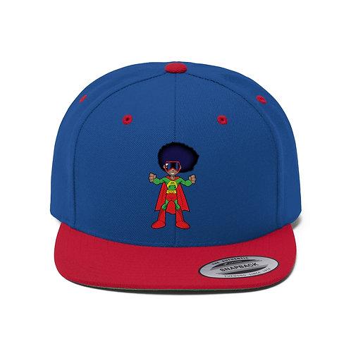AFRO-MAN Flat Bill Hat