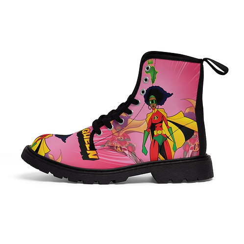 AFRO-QUEEN Women's Canvas Boots
