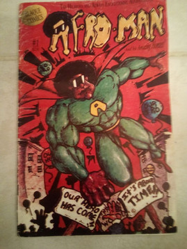 AFRO-MAN'S 1st comic book
