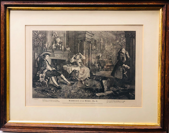 Antique Hogarth Etching Print