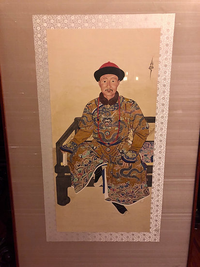 Qing Dynasty watercolor painting