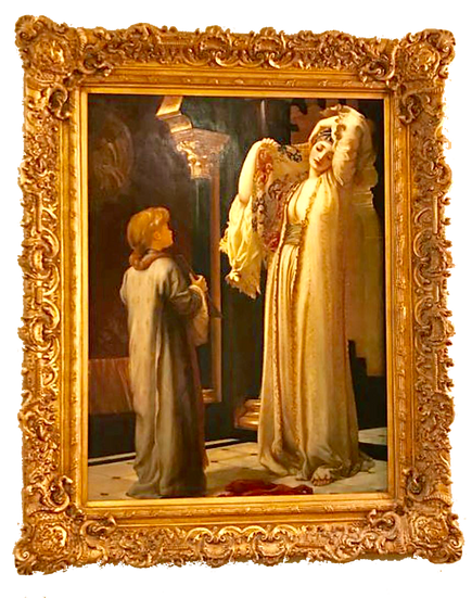 """Huge oil painting """"lady in front of a mirror"""""""