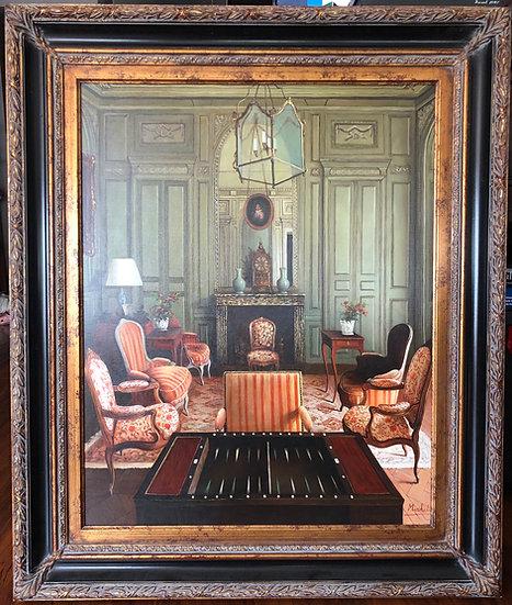 Antique Oil Painting European Living Room