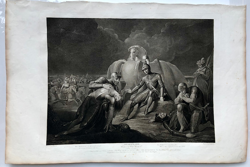 《Third Part of King Henry 6th》Shakespeare London 1803 Limit Etching Print