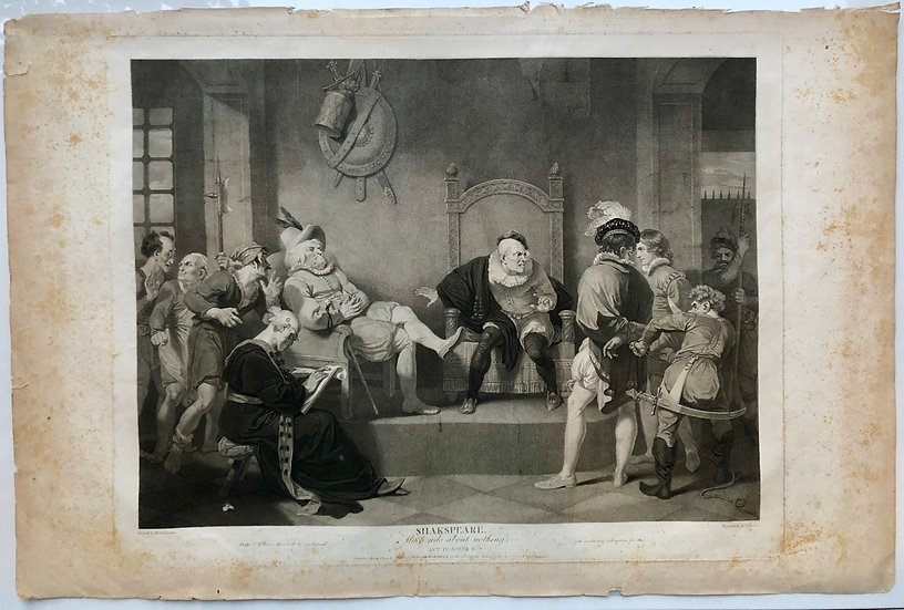 Shakespeare《Much Ado About Nothing》London 1803 Original Limit Etching Print
