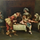 Thumbnail: Italian 1902 Antique Painting Flirtatious Musketeers in Interior signed R. J. BE