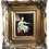 Thumbnail: Antique Oil Painting on wood Miss Noble