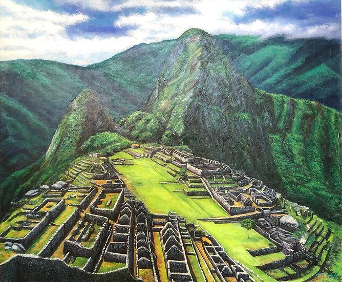 Oil Painting-<Machu Picchu>