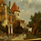 Thumbnail: Dutch  city scene painting in 19th century style signed SHONE