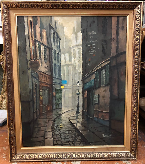 Old Street Antique Painting  by Tarallo