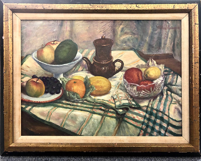 Antique Still Life Oil Painting by John Lnouye