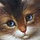 Thumbnail: Oil Painting Cats play with an Antique fan