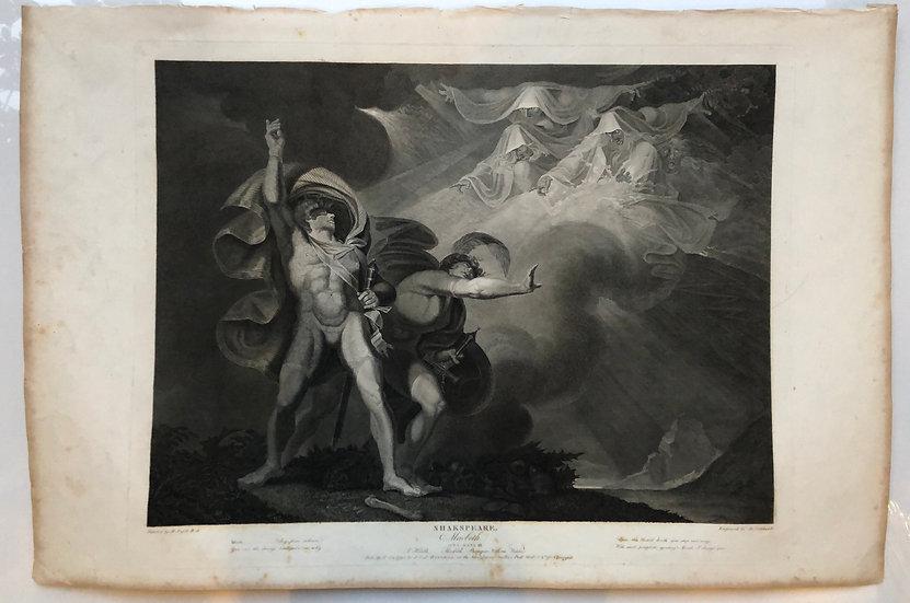 Shakespeare 《Macbeth》London 1803 Original Limit Etching Print