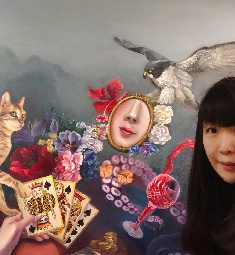 Oil Painting Cat elves in virtual games