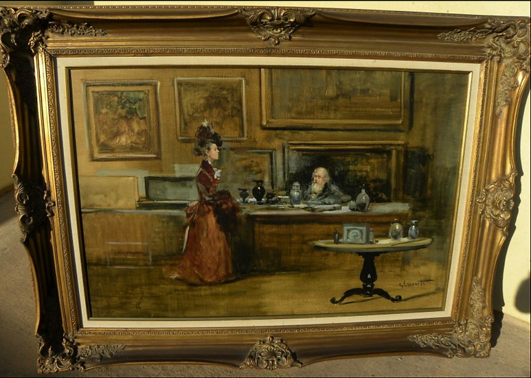 GIORDANO GIOVANETTI (1906-1973) Antique Oil  Painting