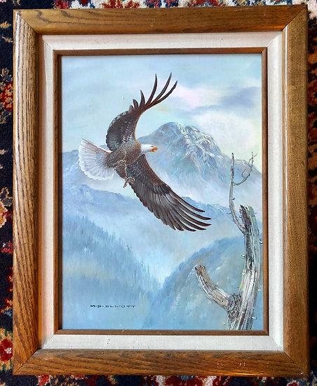 Flying Eagle  w/ Snow Mountain  by M. P. Elliott