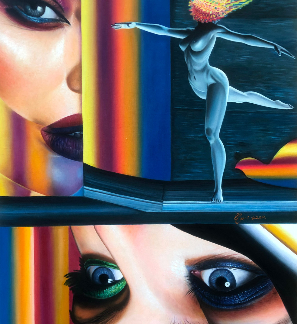 Oil on Canvas Masquerade