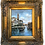Thumbnail: Small Vintage Oil Painting Venice Framed