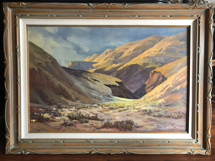 Rockie mountains Oil painting by Phil Kooser in 1974