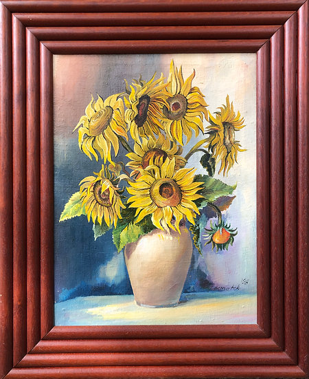 Oil Painting Sunflowers 1998