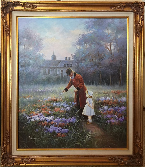 Original Oil Painting the Garden signed by Bill Hopeman