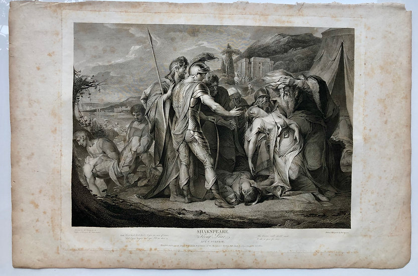《King Lear》Shakespeare London 1803 Original Limit Etching Print