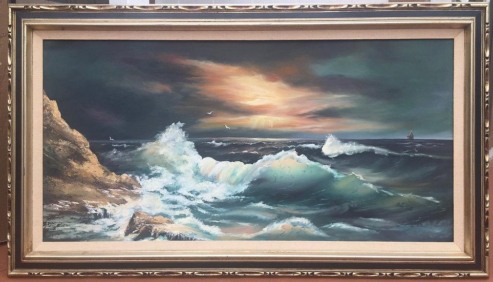 Sunset  Beach Oil Painting
