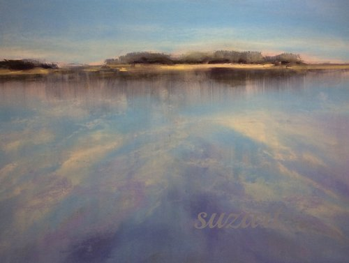 Tranquil waters, pastel