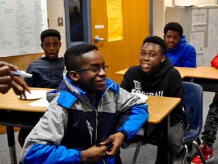 WACC Mentorship program at Walt Whitman Middle School Kickoff!