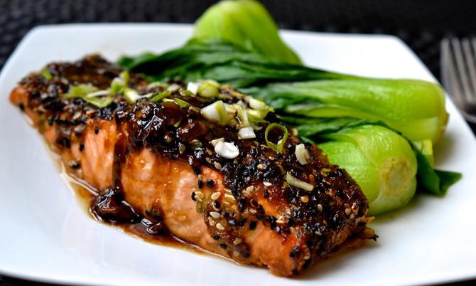 Pan Seared Sesame Salmon