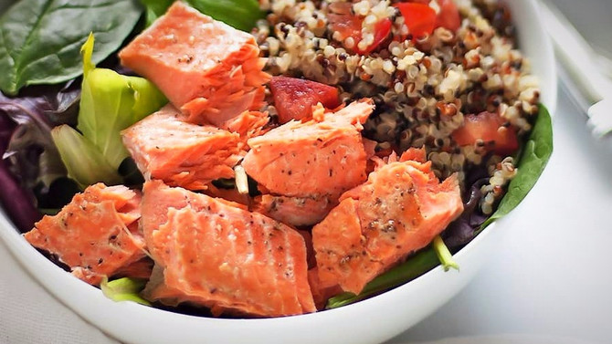 Try Me Recipe: Quinoa & Salmon Buddha Bowl