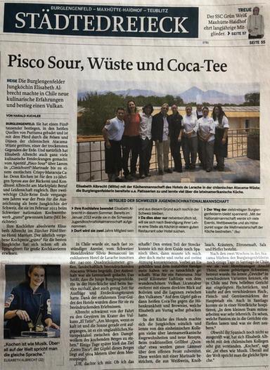 Pisco Sour, Wüste und Coca-Tee