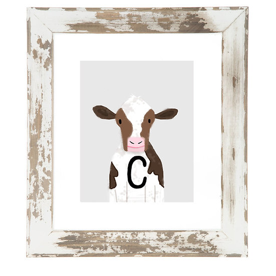 """C"" COW 8x10 PRINT (unframed)"
