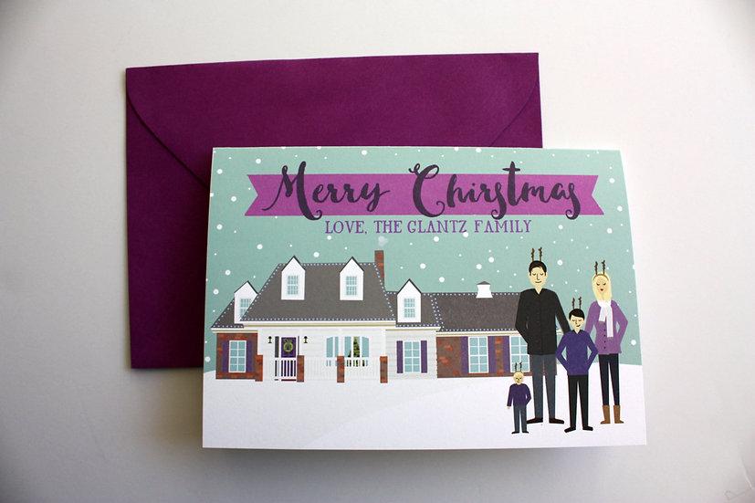 2020 Pre-Order- CUSTOM HOUSE CHRISTMAS CARD DESIGN FEE