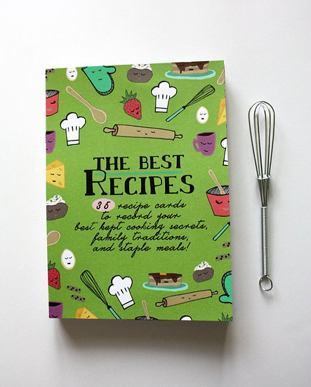 THE BEST RECIPES (35 blank recipe cards)