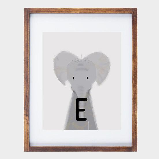 """E"" ELEPHANT 8x10 PRINT (unframed)"