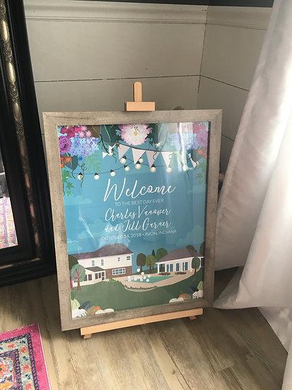 ENLARGED WEDDING INVITE PRINT (unframed)